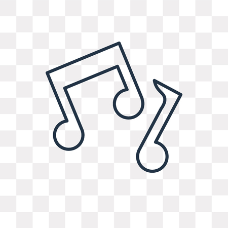 Music note vector outline icon isolated on transparent background, high quality linear Music note transparency concept can be used web and mobile