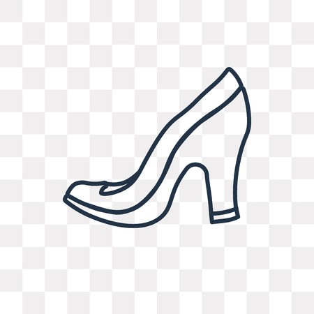 High Heels vector outline icon isolated on transparent background, high quality linear High Heels transparency concept can be used web and mobile