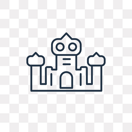 Palace vector outline icon isolated on transparent background, high quality linear Palace transparency concept can be used web and mobile