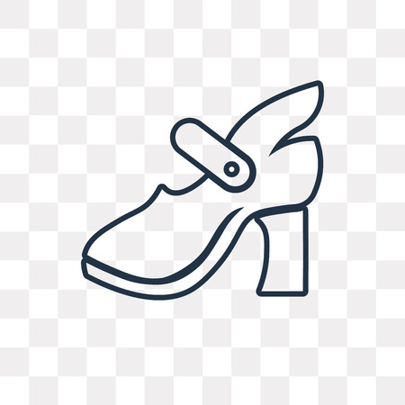High Heel vector outline icon isolated on transparent background, high quality linear High Heel transparency concept can be used web and mobile