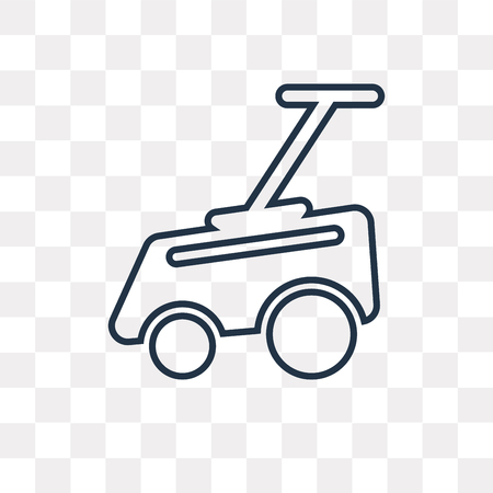 Lawn mower vector outline icon isolated on transparent background, high quality linear Lawn mower transparency concept can be used web and mobile