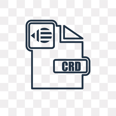 Cdr vector outline icon isolated on transparent background, high quality linear Cdr transparency concept can be used web and mobile