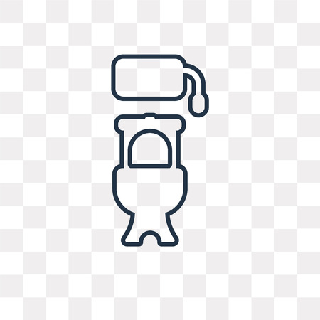 Toilet vector outline icon isolated on transparent background, high quality linear Toilet transparency concept can be used web and mobile