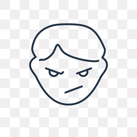 Bully vector outline icon isolated on transparent background, high quality linear Bully transparency concept can be used web and mobile