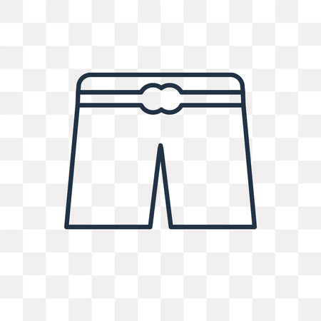 Underwear vector outline icon isolated on transparent background, high quality linear Underwear transparency concept can be used web and mobile