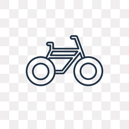 Bike vector outline icon isolated on transparent background, high quality linear Bike transparency concept can be used web and mobile Иллюстрация