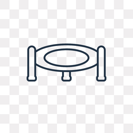 Trampoline vector outline icon isolated on transparent background, high quality linear Trampoline transparency concept can be used web and mobile