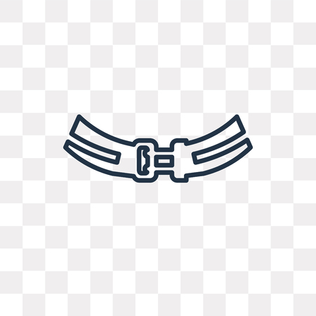 Athletic Strap vector outline icon isolated on transparent background, high quality linear Athletic Strap transparency concept can be used web and mobile Illustration