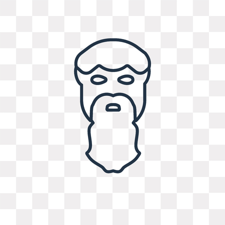 Aristotle vector outline icon isolated on transparent background, high quality linear Aristotle transparency concept can be used web and mobile