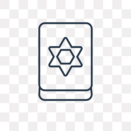 Jewish vector outline icon isolated on transparent background, high quality linear Jewish transparency concept can be used web and mobile Illustration