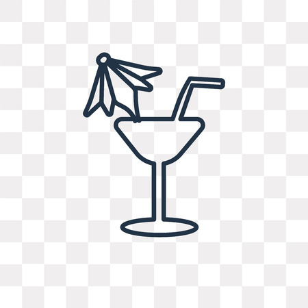 Drink vector outline icon isolated on transparent background, high quality linear Drink transparency concept can be used web and mobile