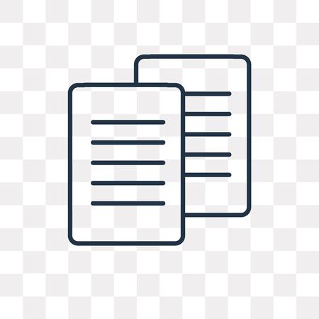 Icône de contour de vecteur de fichier isolé sur fond transparent, concept de transparence fichier linéaire de haute qualité peut être utilisé web et mobile Vecteurs
