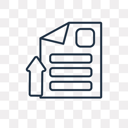 File vector outline icon isolated on transparent background, high quality linear File transparency concept can be used web and mobile  イラスト・ベクター素材