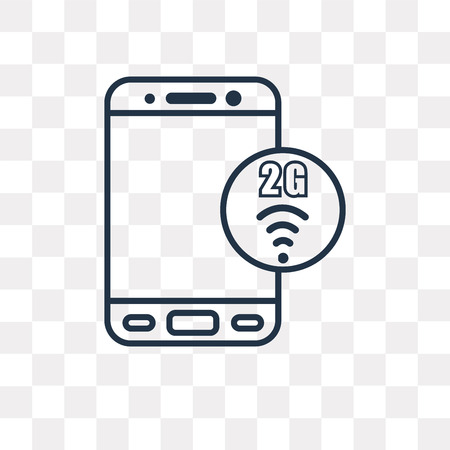 2g vector outline icon isolated on transparent background, high quality linear 2g transparency concept can be used web and mobile