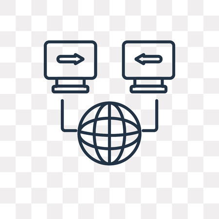 Connection vector outline icon isolated on transparent background, high quality linear Connection transparency concept can be used web and mobile