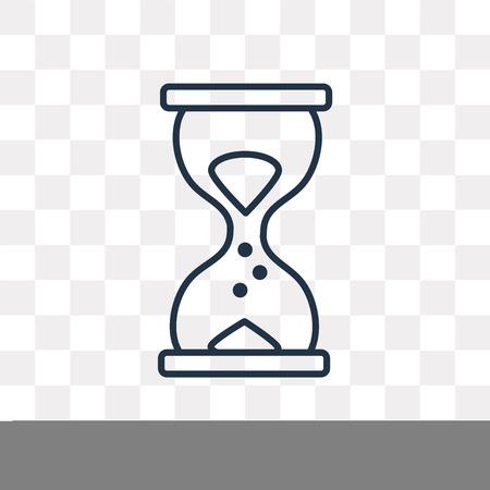 Icône de contour de vecteur horloge sable isolé sur fond transparent, concept de transparence horloge sable linéaire de haute qualité peut être utilisé web et mobile Vecteurs