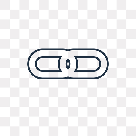 Icône de contour de vecteur de lien isolé sur fond transparent, concept de transparence lien linéaire de haute qualité peut être utilisé web et mobile