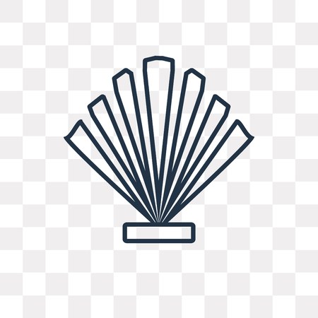 Seashell vector outline icon isolated on transparent background, high quality linear Seashell transparency concept can be used web and mobile