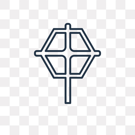 Christian Reformed Church vector outline icon isolated on transparent background, high quality linear Christian Reformed Church transparency concept can be used web and mobile Archivio Fotografico - 113218796