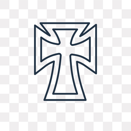 Catholicism vector outline icon isolated on transparent background, high quality linear Catholicism transparency concept can be used web and mobile