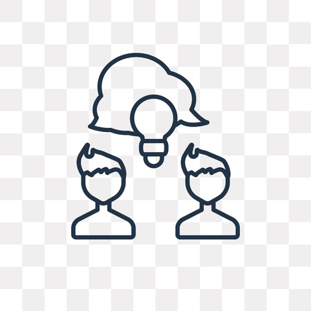 Share vector outline icon isolated on transparent background, high quality linear Share transparency concept can be used web and mobile Ilustração