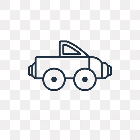 Pickup truck vector outline icon isolated on transparent background, high quality linear Pickup truck transparency concept can be used web and mobile