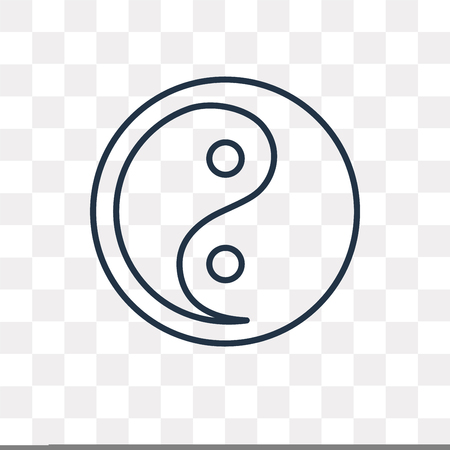 Taoism vector outline icon isolated on transparent background, high quality linear Taoism transparency concept can be used web and mobile Stock Illustratie
