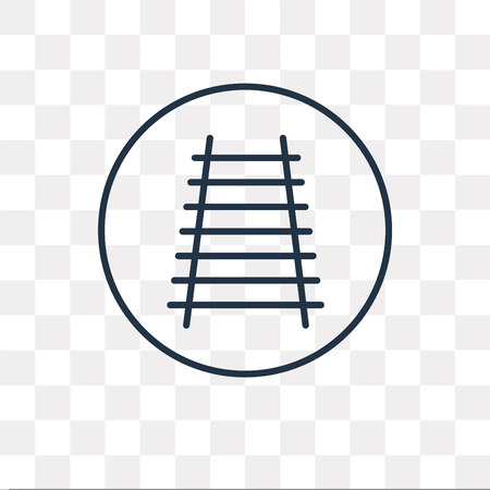 Railway vector outline icon isolated on transparent background, high quality linear Railway transparency concept can be used web and mobile  イラスト・ベクター素材