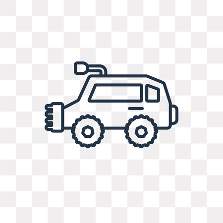 All terrain vehicle vector outline icon isolated on transparent background, high quality linear All terrain vehicle transparency concept can be used web and mobile