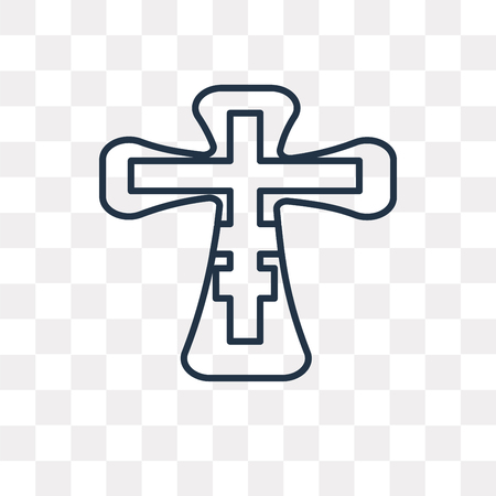 Orthodox vector outline icon isolated on transparent background, high quality linear Orthodox transparency concept can be used web and mobile