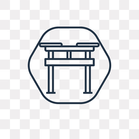 Shinto vector outline icon isolated on transparent background, high quality linear Shinto transparency concept can be used web and mobile