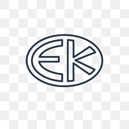 Icône de contour de vecteur Eckankar isolé sur fond transparent, concept de transparence Eckankar linéaire de haute qualité peut être utilisé web et mobile