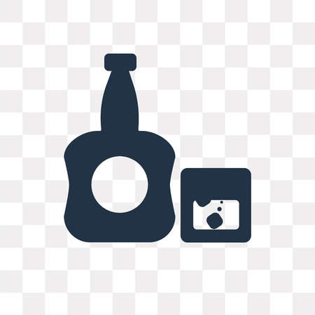 Whisky vector icon isolated on transparent background, Whisky transparency concept can be used web and mobile 矢量图像