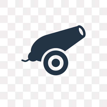 Cannon vector icon isolated on transparent background, Cannon transparency concept can be used web and mobile