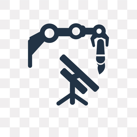 Machine vector icon isolated on transparent background, Machine transparency concept can be used web and mobile