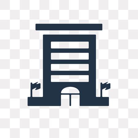 Botschaftsvektorsymbol isoliert auf transparentem Hintergrund, Botschaftstransparenzkonzept kann im Web und mobil verwendet werden