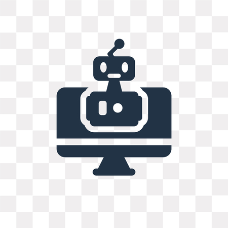 Bot vector icon isolated on transparent background, Bot transparency concept can be used web and mobile
