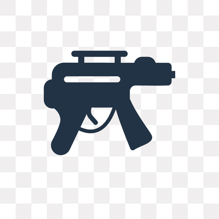 Rifle vector icon isolated on transparent background, Rifle transparency concept can be used web and mobile