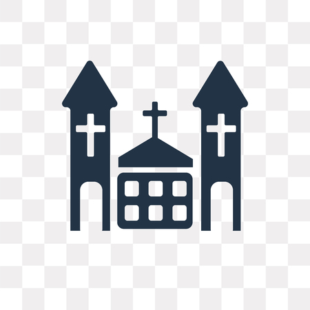 Chuch vector icon isolated on transparent background, Chuch transparency concept can be used web and mobile Иллюстрация