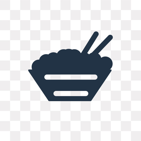 Rice vector icon isolated on transparent background, Rice transparency concept can be used web and mobile Illustration