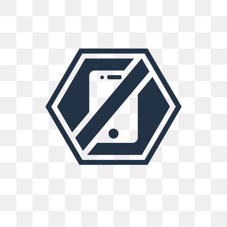 Forbbiden Phone vector icon isolated on transparent background, Forbbiden Phone transparency concept can be used web and mobile Illustration