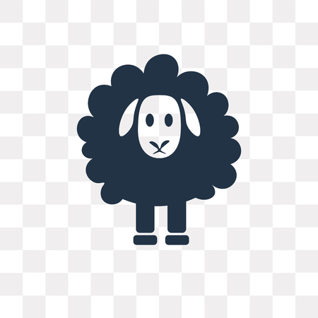 Sheep vector icon isolated on transparent background, Sheep transparency concept can be used web and mobile Illustration