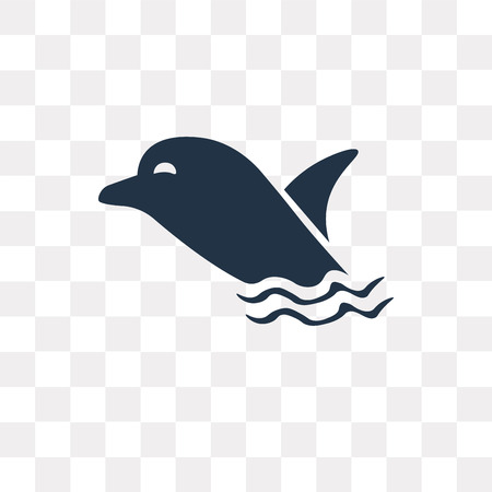 Dolphin vector icon isolated on transparent background, Dolphin transparency concept can be used web and mobile