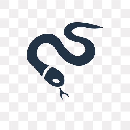 Snake vector icon isolated on transparent background, Snake transparency concept can be used web and mobile