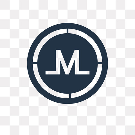 Monero vector icon isolated on transparent background, Monero transparency concept can be used web and mobile