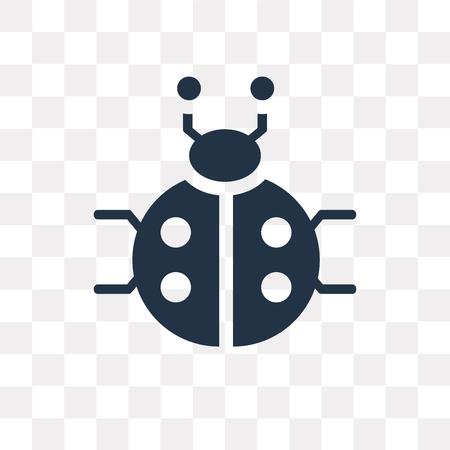 Icône de vecteur de coccinelle isolé sur fond transparent, la notion de transparence de coccinelle peut être utilisé web et mobile