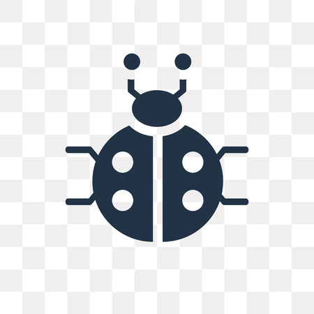 Icono de vector de mariquita aislado sobre fondo transparente, concepto de transparencia de mariquita puede ser usado de la web y móvil
