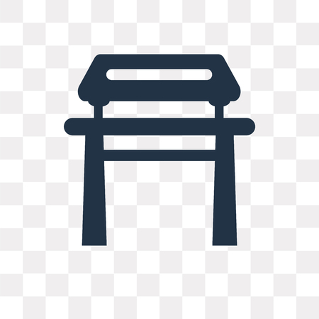 Dojo vector icon isolated on transparent background, Dojo transparency concept can be used web and mobile