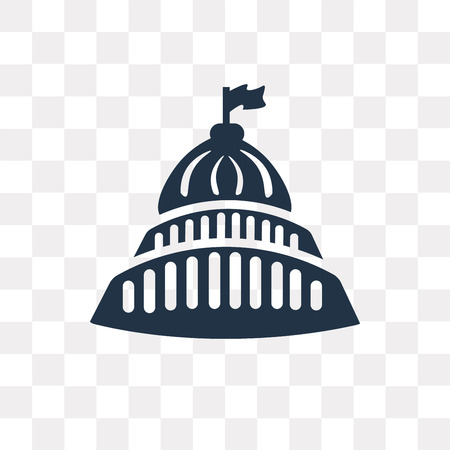 Capitol Building vector icon isolated on transparent background, Capitol Building transparency concept can be used web and mobile