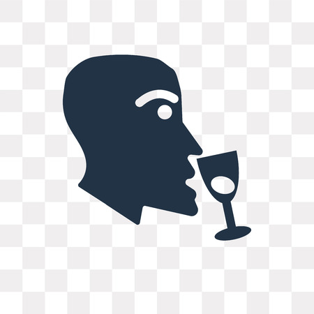 Wine tasting vector icon isolated on transparent background, Wine tasting transparency concept can be used web and mobile